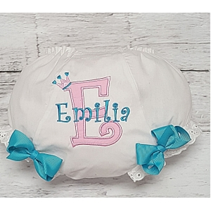 Cotton Candy Pink & Blue Personalized Diaper Cover Bloomers