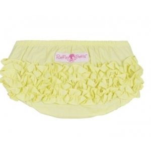 Yellow Woven Ruffle Butts Diaper Cover