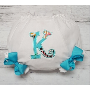 Teal or Pink Cupcake Applique Personalized Diaper Cover Bloomers