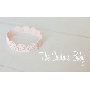 Baby Pink Lace Baby Crown