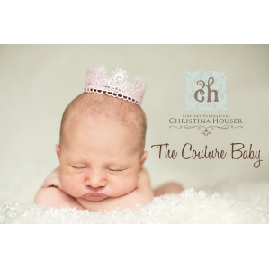 Her Majesty Vintage Pink Baby Crown