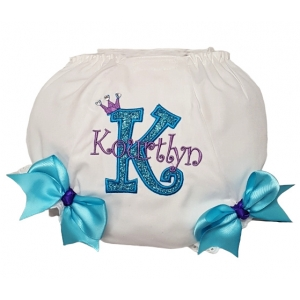Purple & Turquoise Butterfly Personalized Shirt and Ribbon Tutu 3 Piece Set