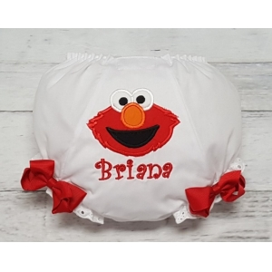Elmo Personalized  Diaper Cover Bloomers with Boutique Bows