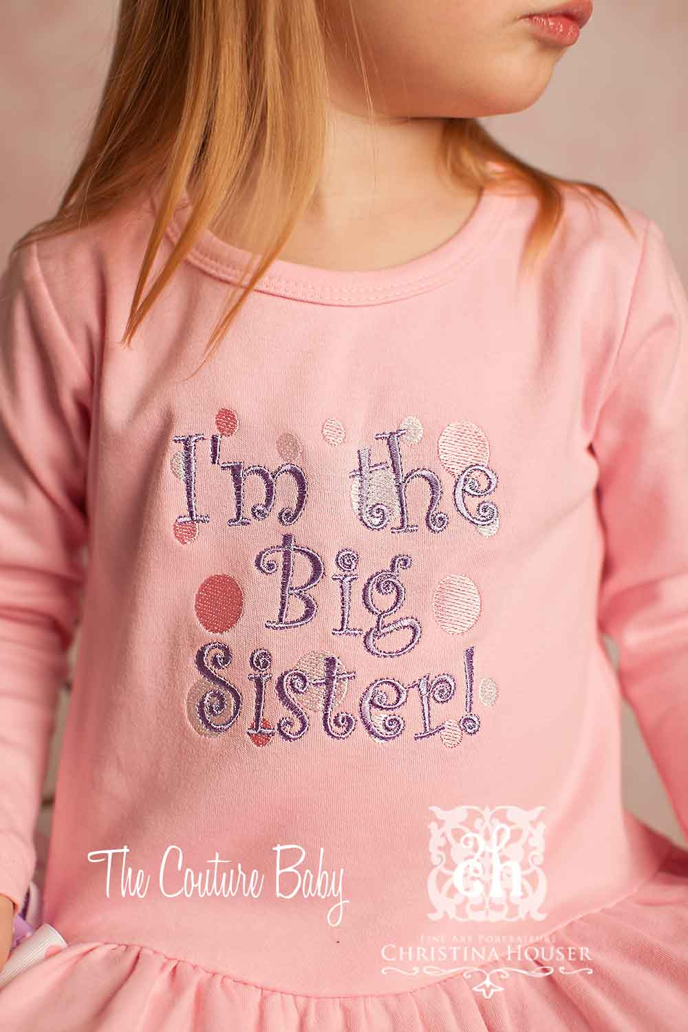 Quot I M The Big Sister Quot Pink Amp Lavender Embroidered Dress