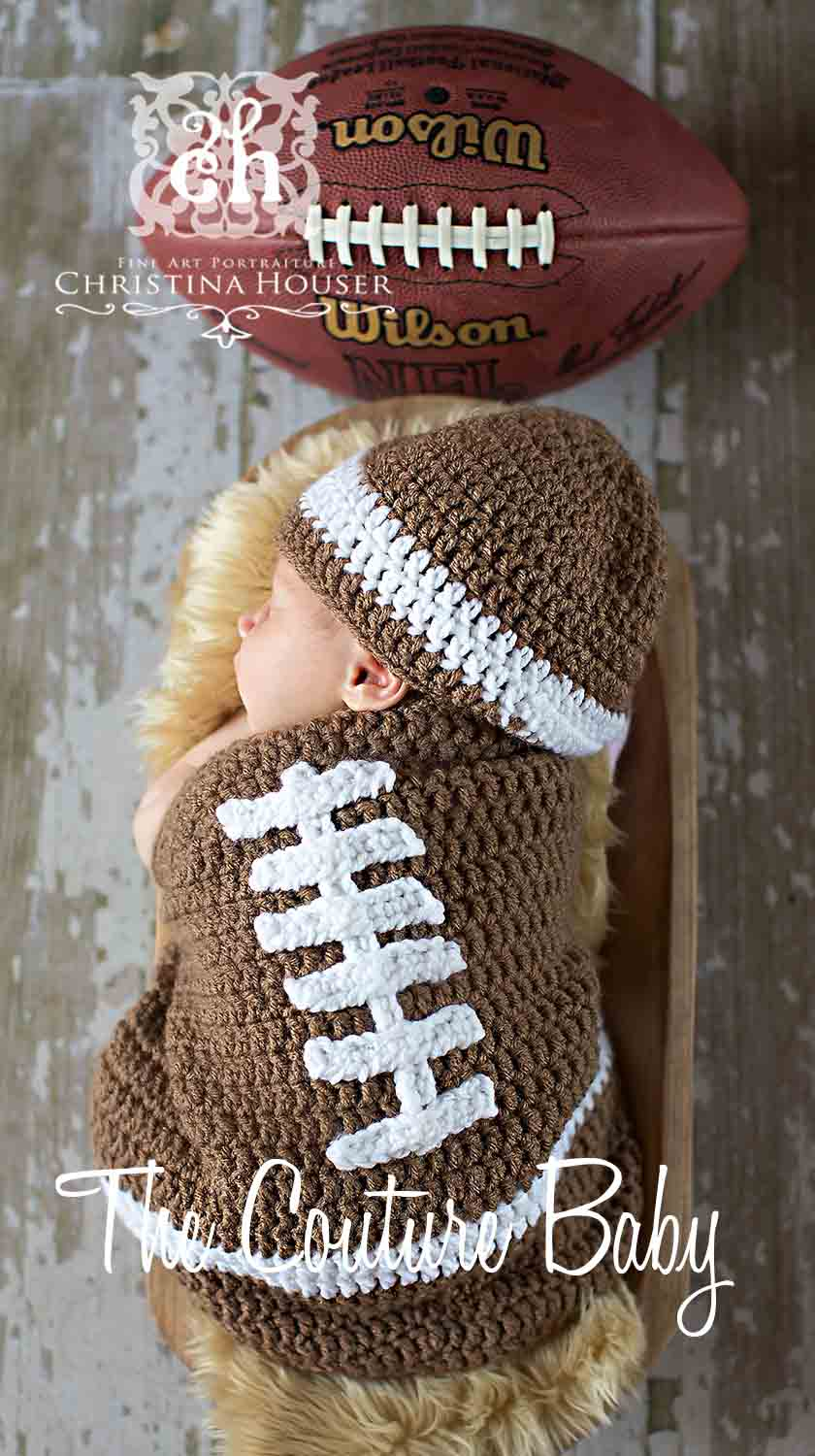 Football Bunting Crochet 2 Piece Set - The Couture Baby & Child Boutique