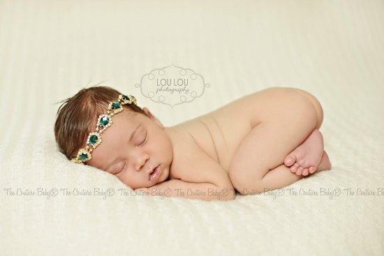 Emerald Gem   Gold Halo Headband - The Couture Baby   Child Boutique 4c079ff64e4
