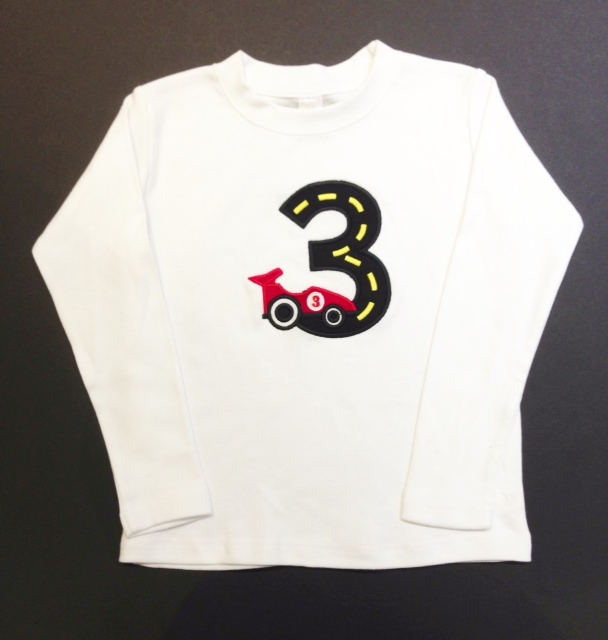 Personalized Race Car Birthday Shirt