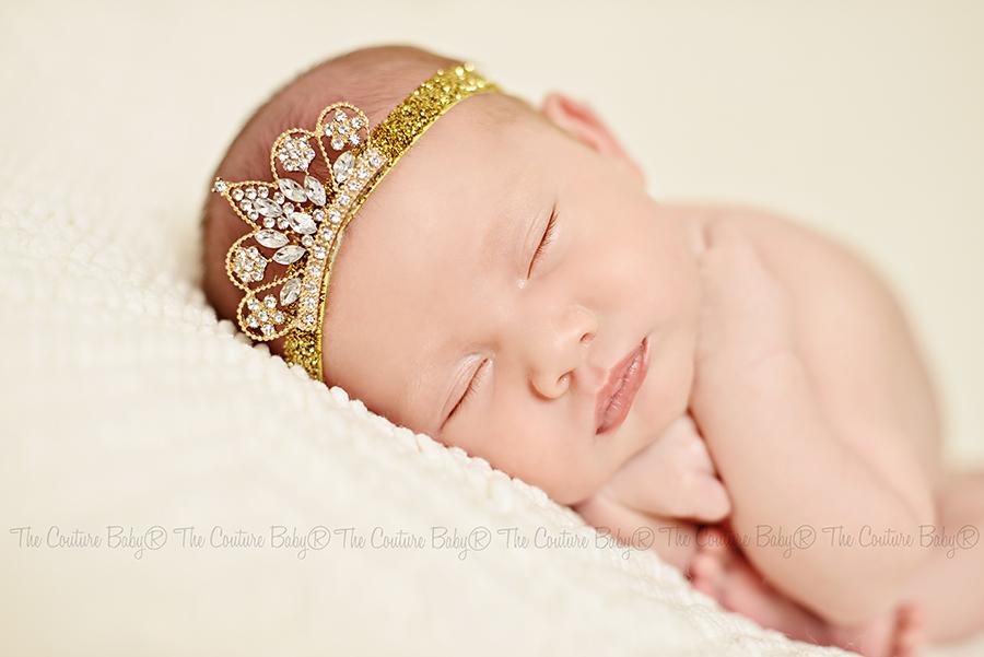 Golden Tiara Rhinestone Glitter Headband - The Couture Baby   Child Boutique 2852e18367d