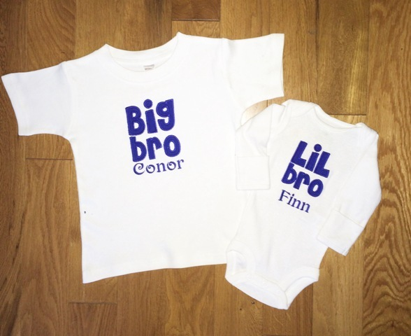 65e677d6a Big & Little Brother Personalized Shirt & Onesie Set- The Couture Baby &  Child Boutique