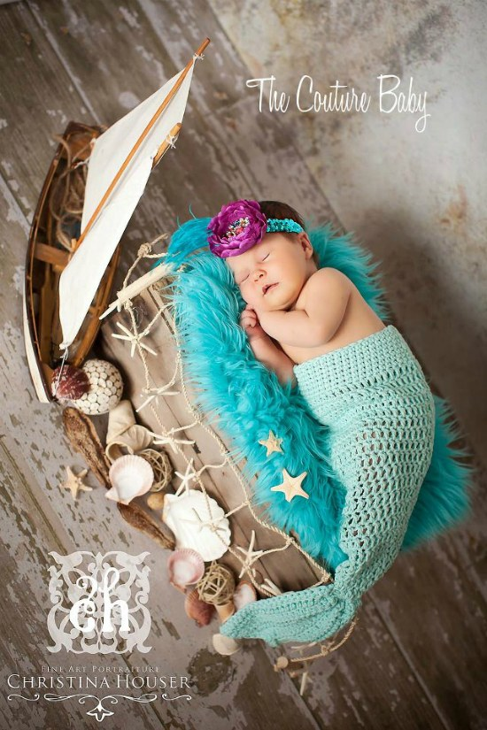 Mermaid Crochet Tail Photo Prop The Couture Baby Amp Child