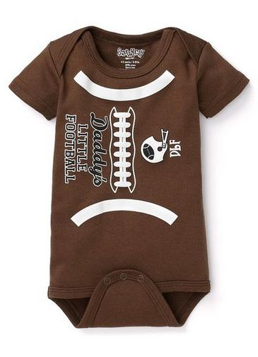 f6566c2e7 Brown & White Daddy's Little Football Onesie One Piece- The Couture ...
