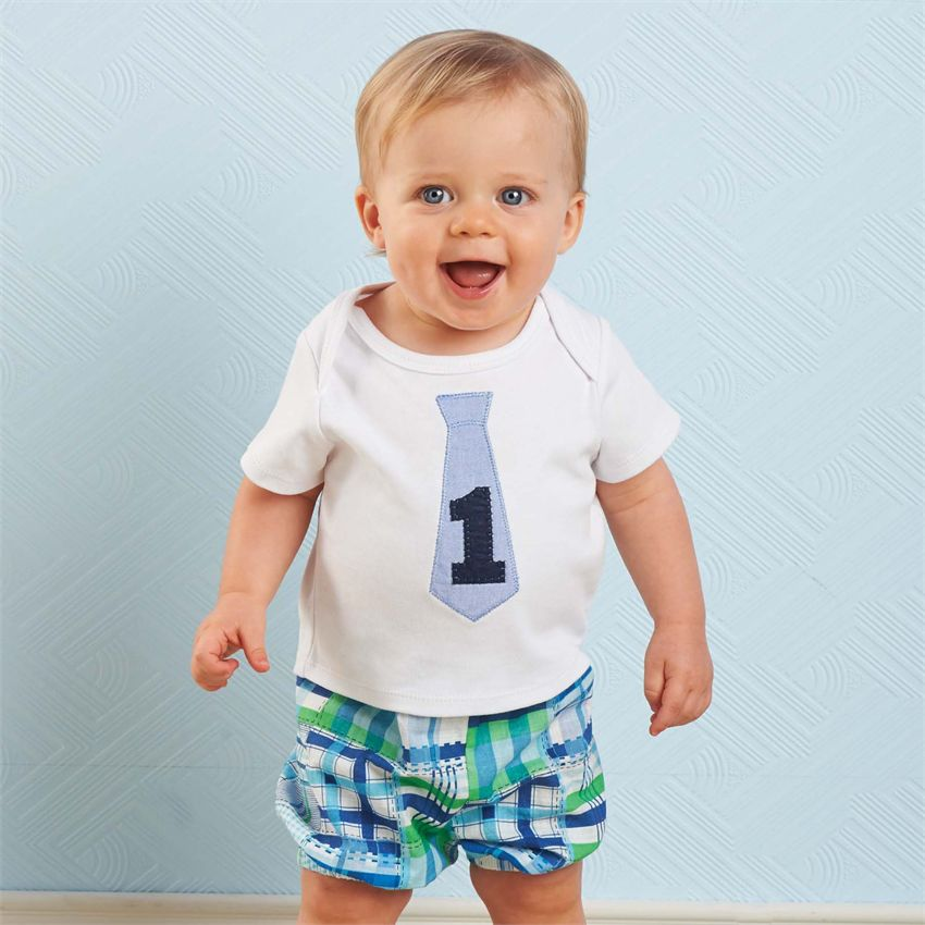 Im One Boys 1st Birthday Shirt Plaid Diaper Cover Set The Couture Baby Child Boutique