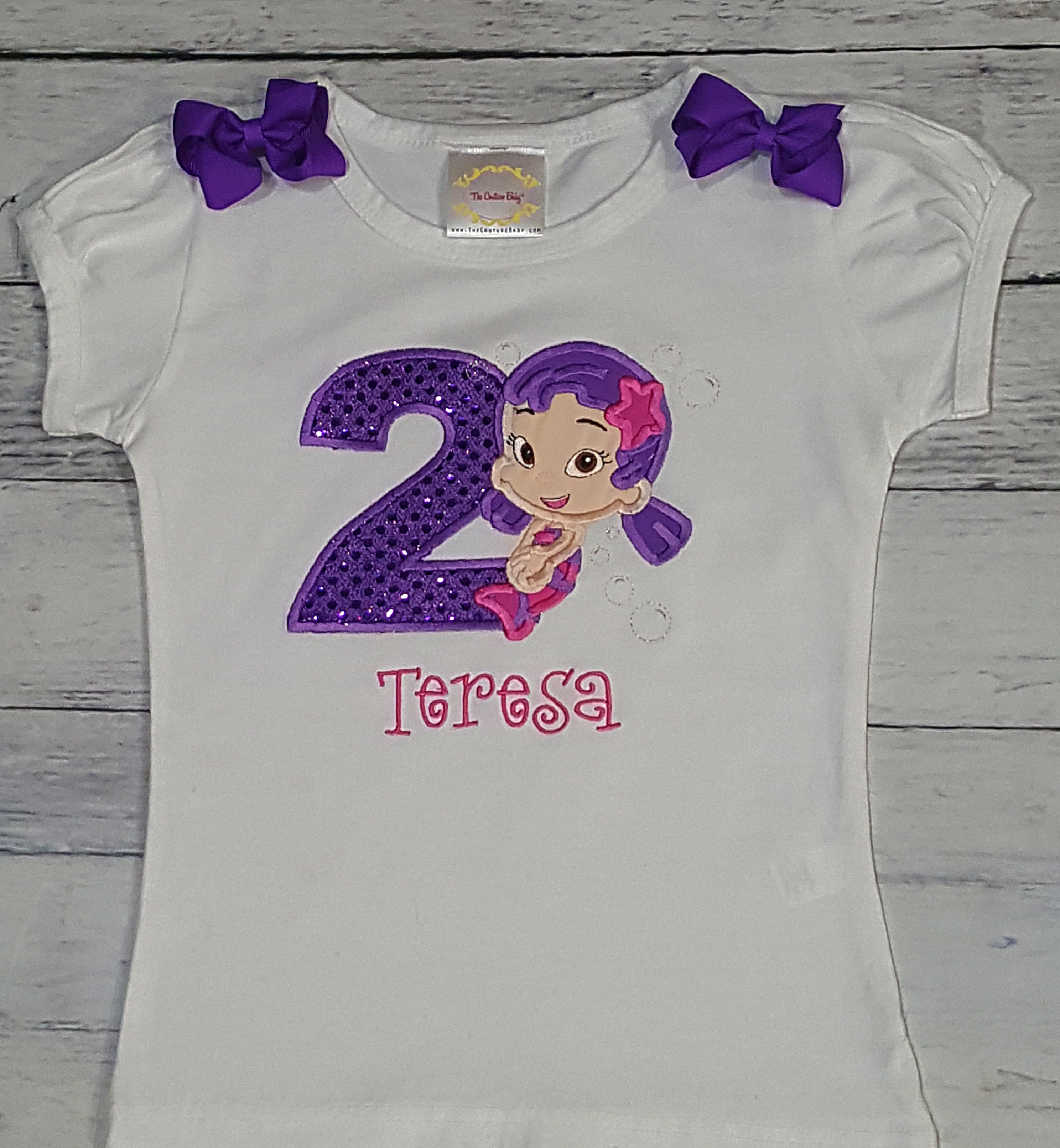 Oona Bubble Guppie Personalized Birthday Shirt The Couture Baby Child Boutique