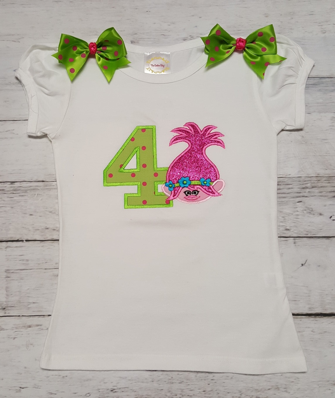 Hot Pink Lime Green Troll Personalized Birthday Shirt Onesie Or Tank Top The Couture Baby Child Boutique
