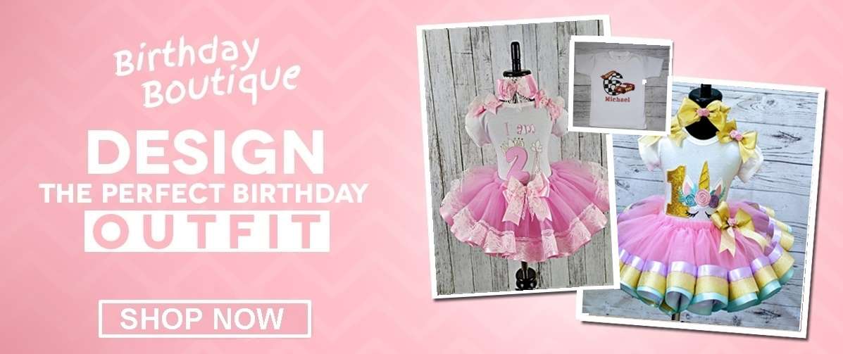 Children's Birthday Tops, Outfits & Accessories
