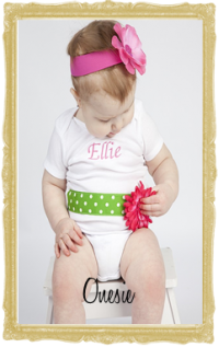 Baby, Toddler & Little Girl Onesies Tops Personalized Customized