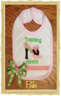 Baby Girl Bibs, Bib Sets, Personalized, Customized