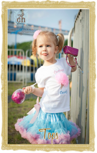 Baby, Toddler & Little Girl Tops Personalized Customized