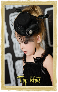 Baby & Little Girl Couture Top Hats Customized