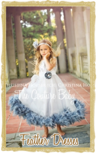 Baby, Toddler & Girl Feather Dresses