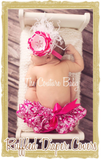 Baby and Toddler Girl Ruffled Diaper Covers Bloomers, Personalized, Customized