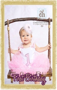 Baby Girl First Birthday Clothing Personalized, Customized