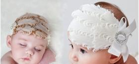 Featherlicious White or Ivory Diva Feather Headband