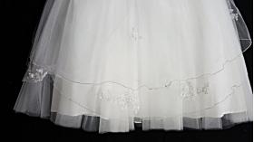 Christie Helene-Custom Ivory Silk Rosette & Pearls Christening Gown (6 months)
