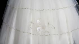 """Christie Helene """"Custom"""" Ivory Silk & Tulle Crystal beaded Christening Gown & Hat Set (6m)"""