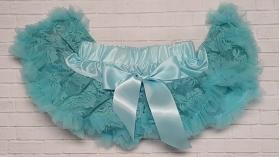 Turquoise Lace Ruffle Chiffon Petti Skirt