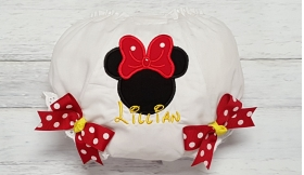 Minnie Red & Yellow Polka Dot Personalized Diaper Cover Bloomers