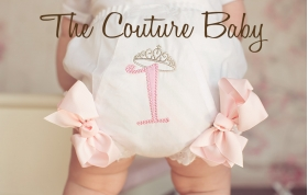 Princess Crown Birthday Personalized Bloomers Diaper Cover