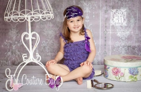 Purple Lace Ruffle Petti Romper