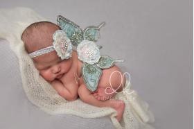 Green Mint Deluxe Butterfly Wings & Headband Photo Prop 2 Piece Set
