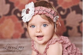 Dusty Rose Lace Matching Headband