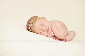 Golden Tiara Rhinestone Glitter Headband