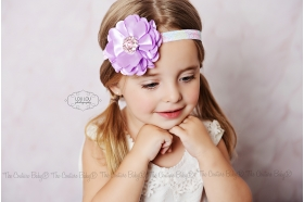Pastel Damask Party Flower Headband
