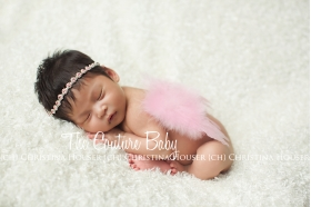 Pink Feather Newborn Wings