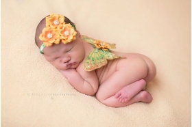 Yellow & Green Crystal Butterfly Wing & Headband Set