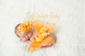 Gold & Orange Hydrangea Butterfly Wings & Headband 2 Pc Set Photo Prop