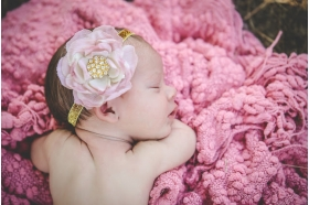 Mauve and Ivory Rose Pearl Flower Sequin Headband