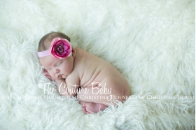 Pink & Hot Pink Baby Angel Pink Feather Wings & Headband Photo Prop Set