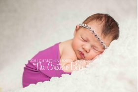 February Amethyst Lavender Birthstone Rhinestone Halo Headband