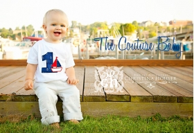 Nautical Anchor First Birthday Personalized T-Shirt or Onesie