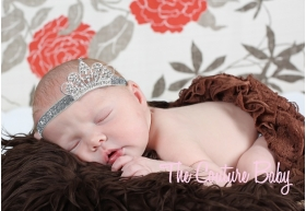 "Silver Crown & Crystal ""Sleeping Princess"" Glitter Headband"