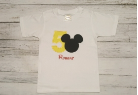 Mickey Mouse Birthday Boy Personalized Shirt