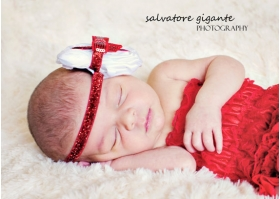"Sparkly Red & White"" Lil Present Christmas"" Headband"