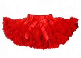 Christmas Red Chifffon Ruffle Pettiskirt