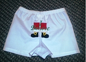 Boys Christmas Santa Boxers Diaper Cover