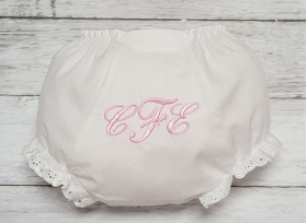 Personalized Embroidered Initial Diaper Cover Bloomers